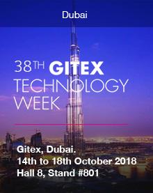 GITEX, Dubai. 14th to 18th October 2018