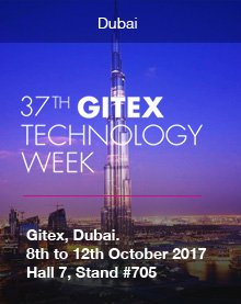 GITEX, Dubai. 8th to 12th October 2017