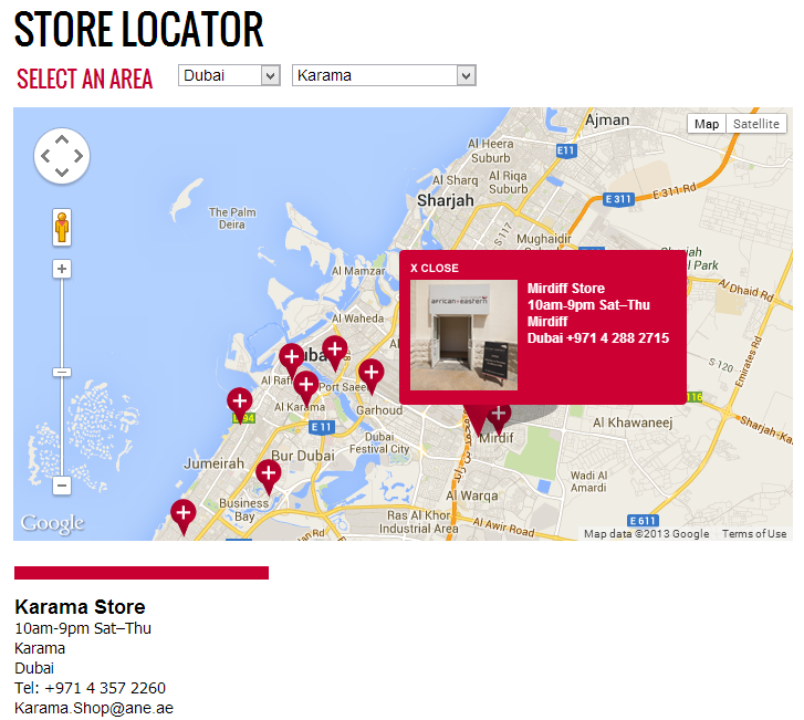 Store Locator with google map location