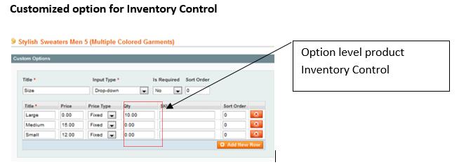 Magento-InventoryControl