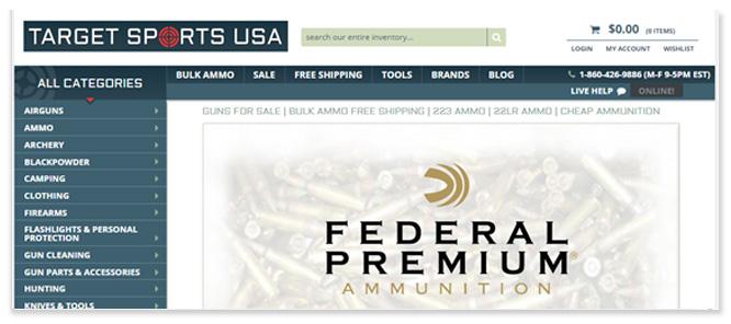 Organic SEO for Target Sports USA