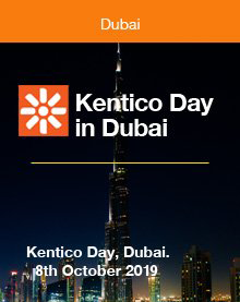 Kentico Day  in Dubai. 8th October 2019