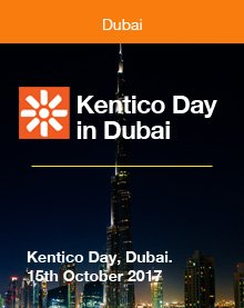 Kentico Day  in Dubai. 15th October 2017